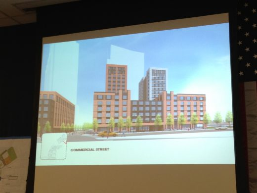 Commercial Street Development plus requested height proposal (Photo: Natalie Rinn)