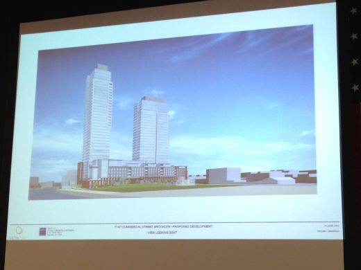Proposed Commercial Street Expansion (Photo: Natalie Rinn)