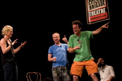 Amy Poehler, Matt Walsh and Matt Besser at the Del Close Marathon (Photo: Francine Daveta)