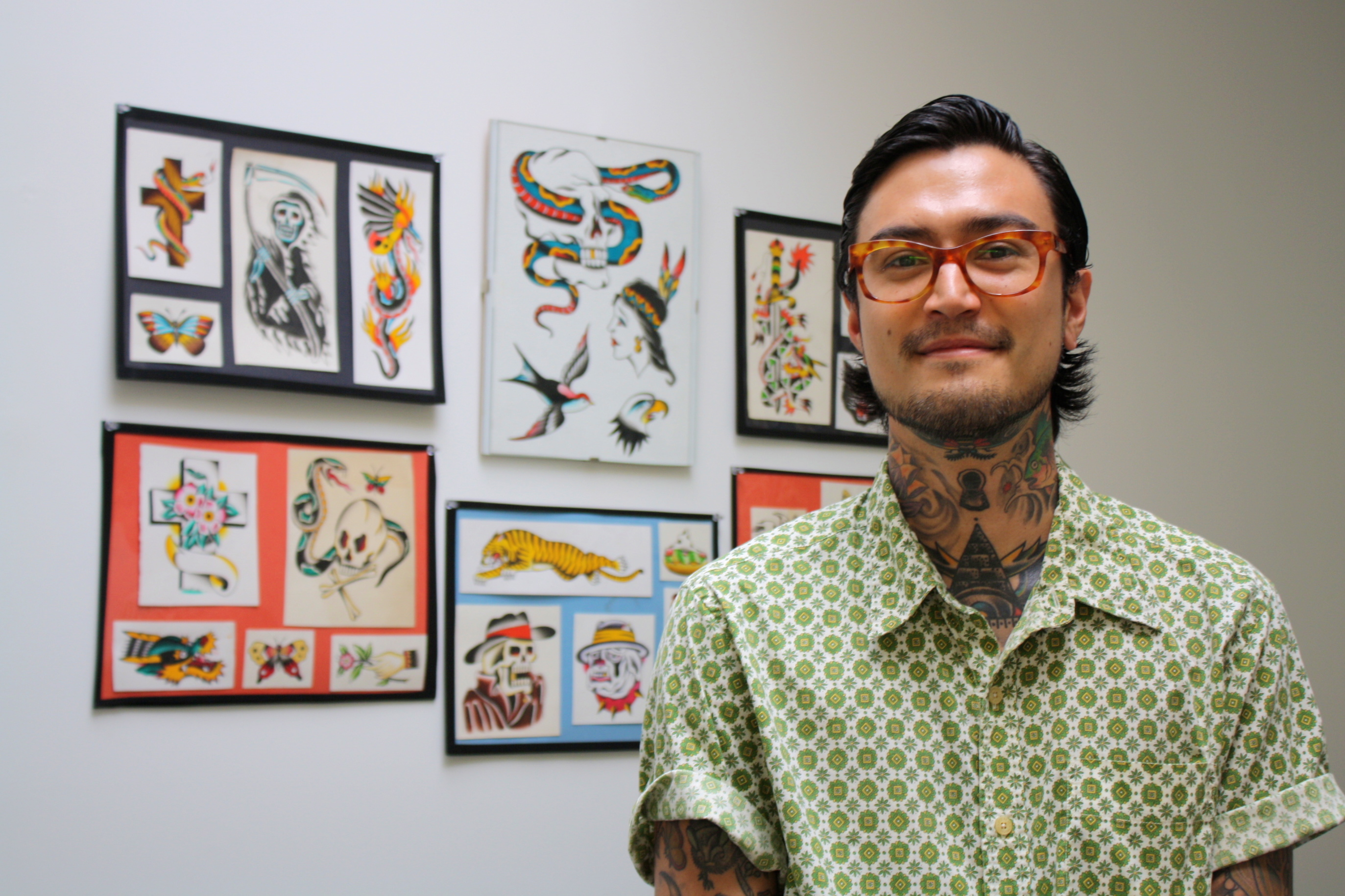 Tattoo Artist Chris Lockhart at Venus Body Arts (Photo: Anna Silman)
