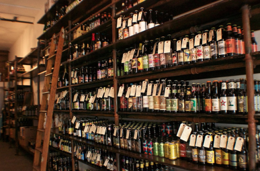 100 bottles of beer on the wall.  (Photo: Lauren Carol Smith)