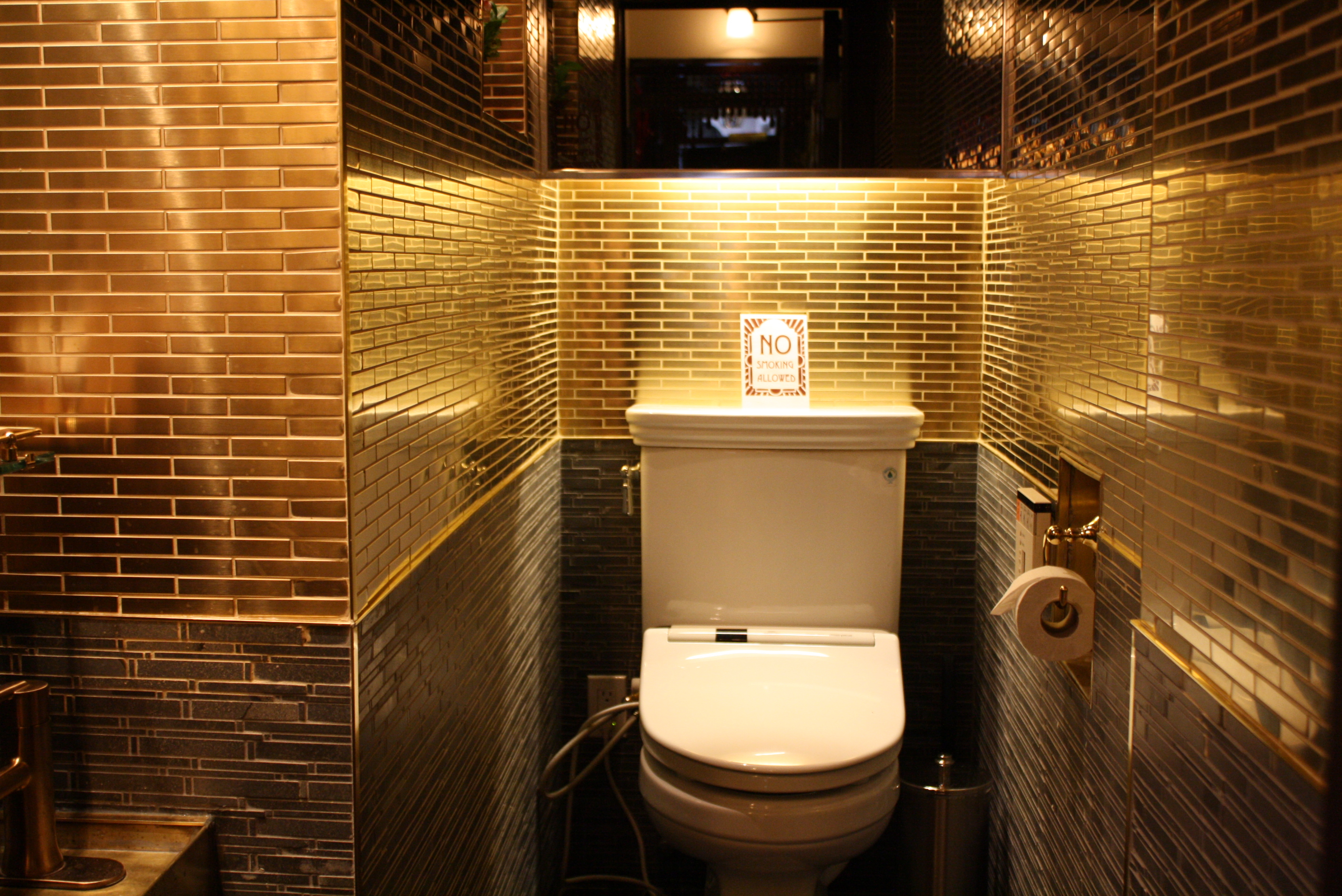 Hi-Collar Opens Tomorrow With the Blingiest Bathroom Ever