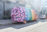 Maybe the most incredible piece of the Open Canvas event was Olek's completely crocheted van.