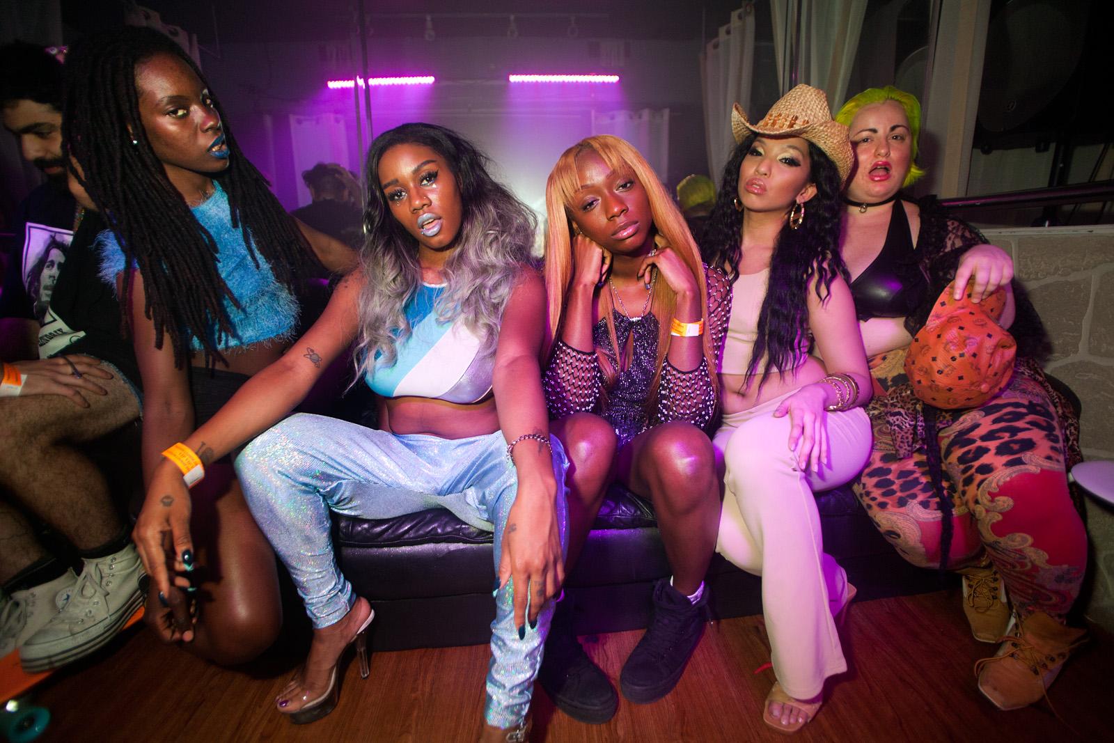 Dancer, Dai Burger, Junglepussy, Kay Rizz, Contessa Stuto