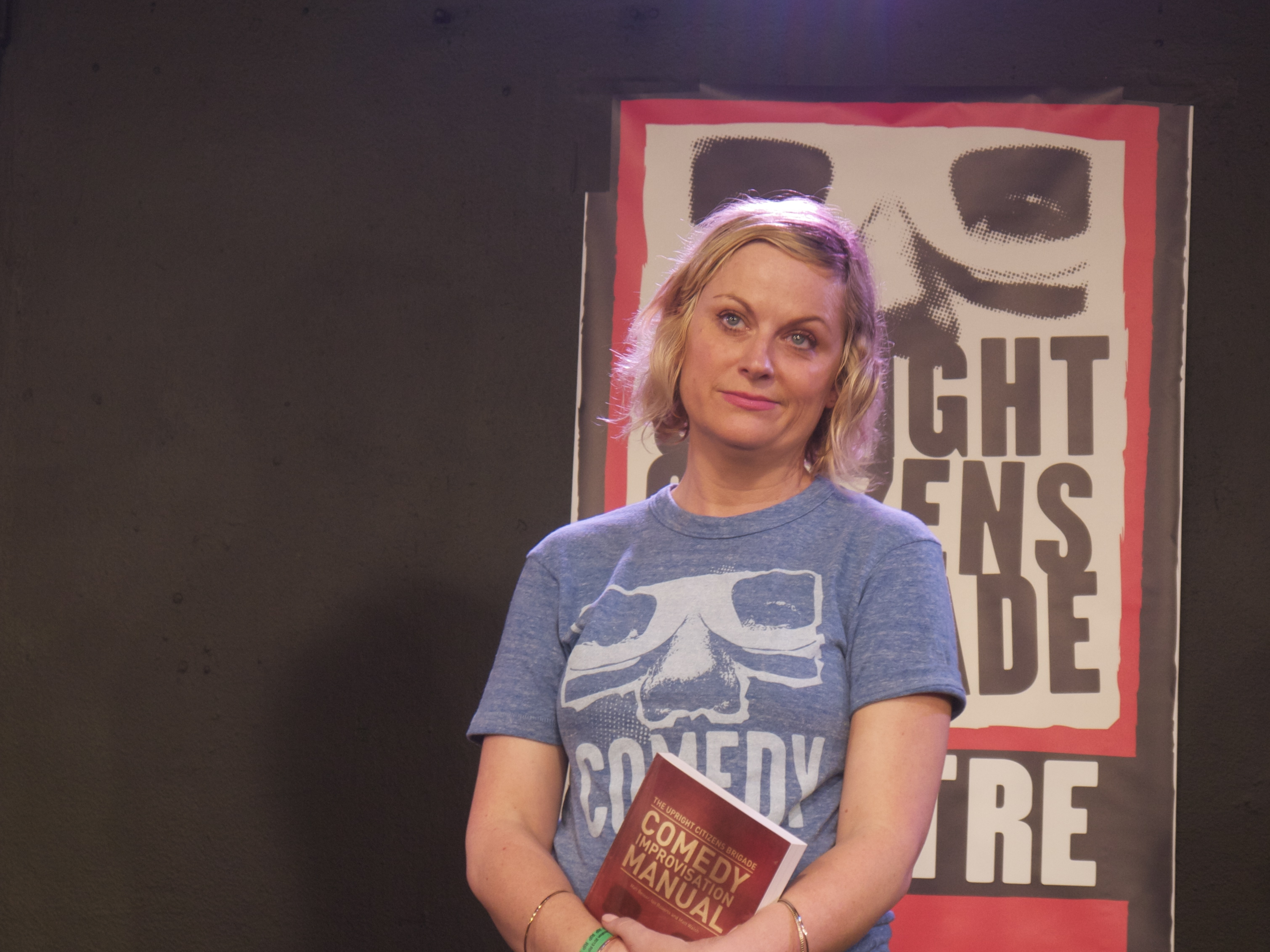 Amy Poehler at the DCM presser. (Photo: Anna Silman)