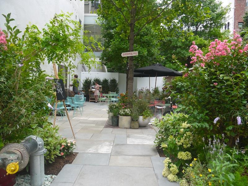 The patio. (Photo: Anna Silman)