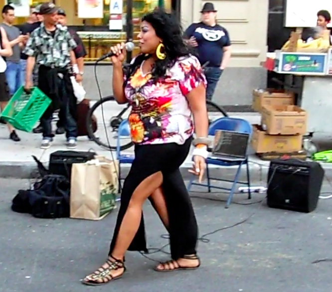 Indian Pop Diva, Shakti, after her performance at the festival.