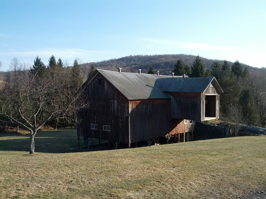 The barn at the Catskills farm