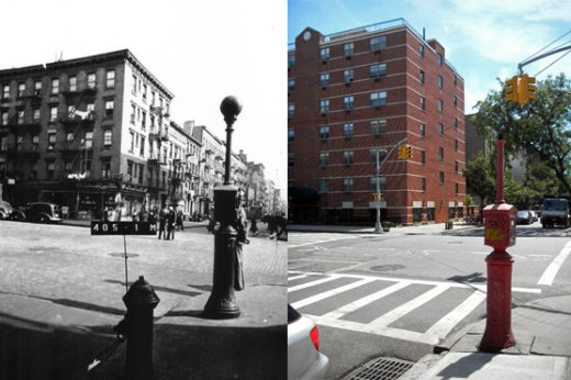 501 East 11th Street ca. 1940 (photo: New York City Municipal Archives) and today (photo: Frank Mastropolo).