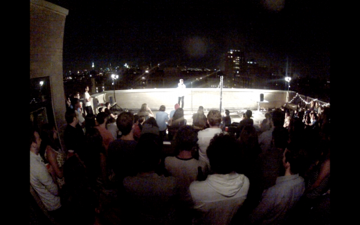 A rooftop show. (Photo: Courtesy Live @ The Apt)