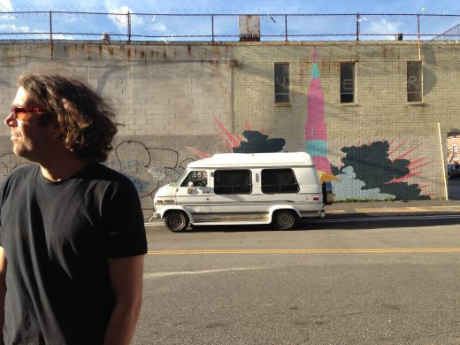 A man and his van. (Photo courtesy of Sal Mander)