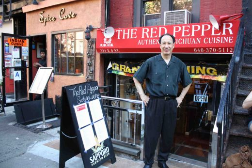 Wilson Fu, owner of Red Pepper, a traditional Chinese restaurant on Curry Row. (Photo: Natalie Rinn)