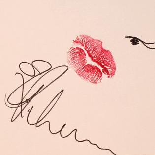 Rihanna's kiss.