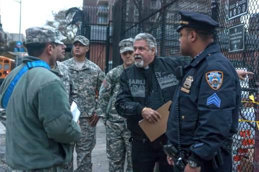 Pastor Rick Del Rio co-ordinating Sandy relief efforts (Photo: Jonathen Adkins)