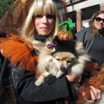 "Bobbie Martowicz and Lalka. ""She's the pumpkin princess and I'm the pumpkin queen,"" explained Martowicz."