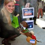 Coco as Anthony Weiner Dog with Jessica Minch.