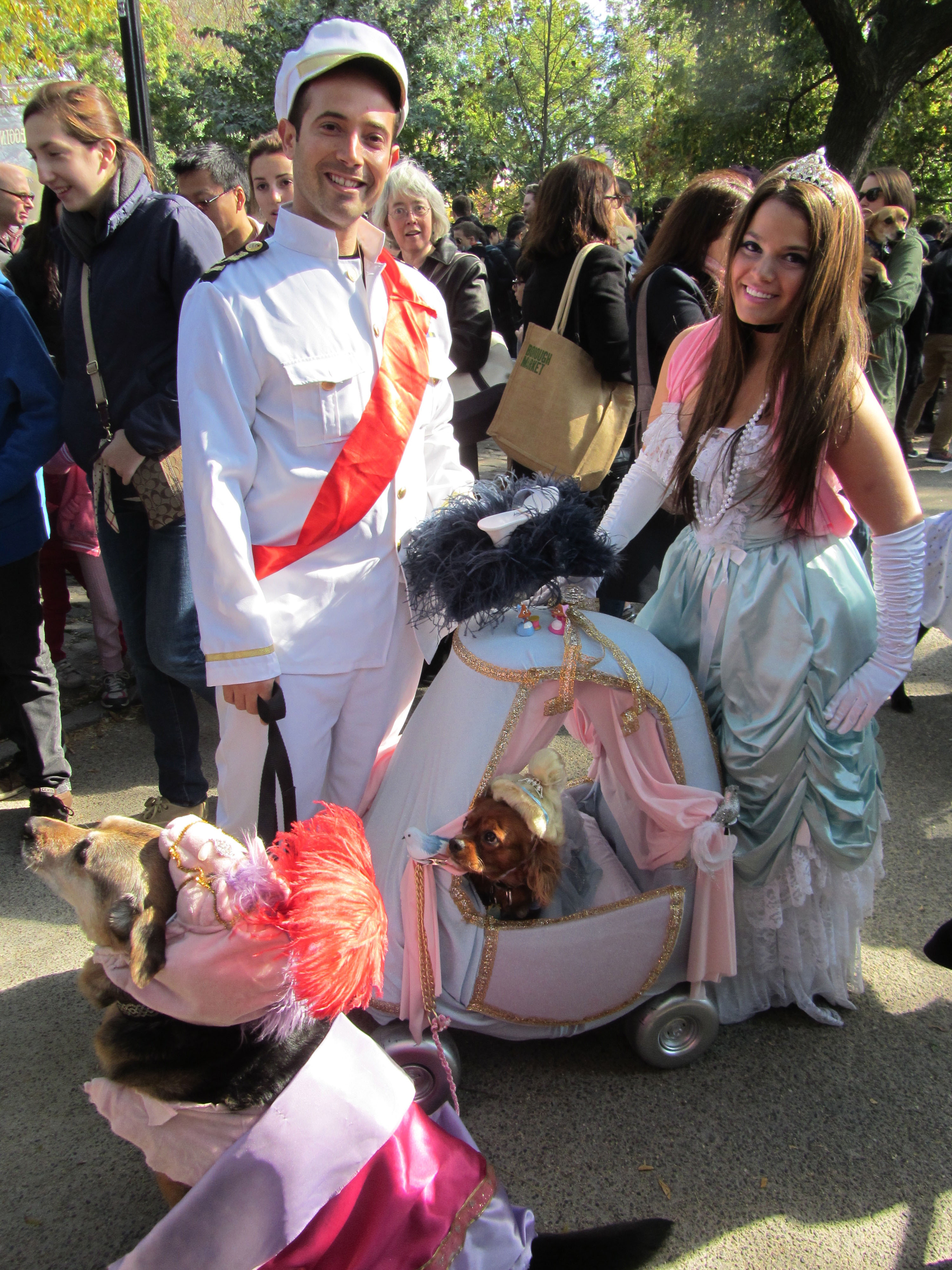 "Cori Susser, Jeremy Chassen, Mika (larger) and Joey (smaller) as Cinderella and Co. ""I'm gonna propose,"" Chassen told B+B."