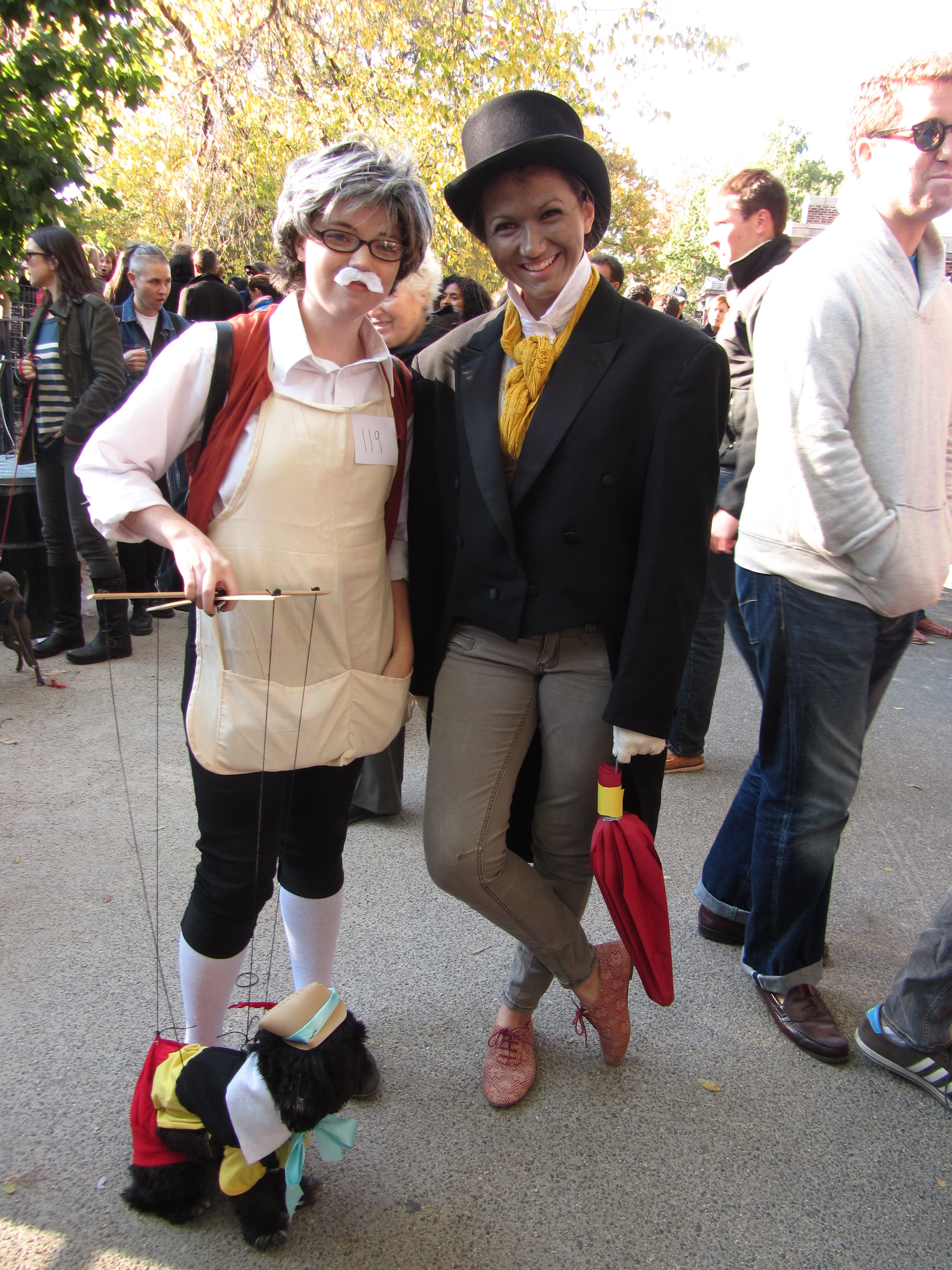 "Devon Meenagh, Alexandra Vittorini and Indiana Bones as ""Paw-nochio."""