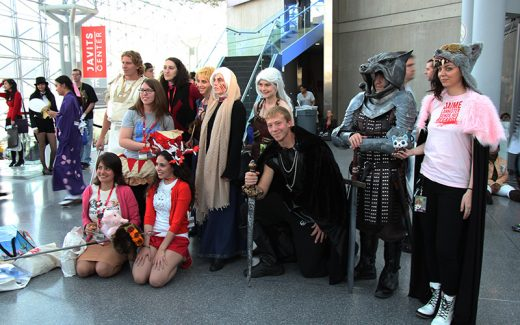 There's a lot going on here, but that appears to be a group shot with Ser Sandor Clegane, a.k.a. The Hound, from Game of Thrones.
