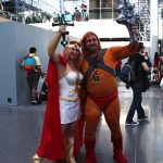 He-man and She-ra from their respective eponymous cartoons.
