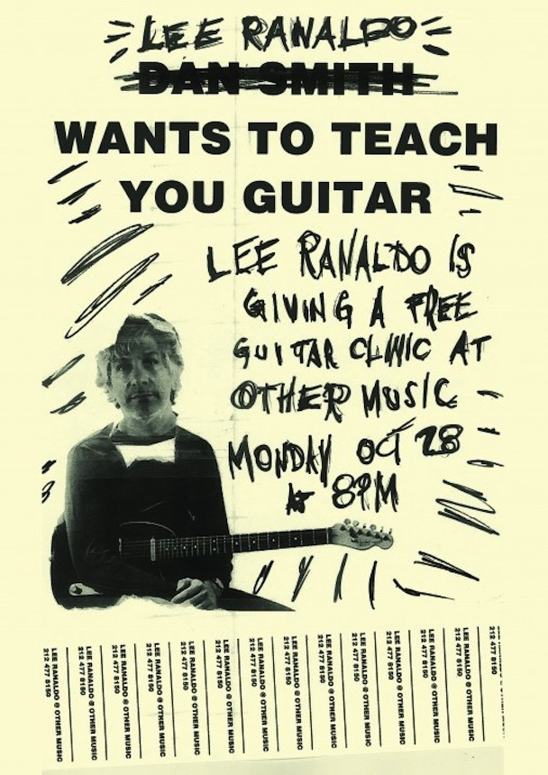 Get A Guitar Lesson From Lee Ranaldo Of Sonic Youth Tonight