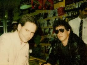 Mark Bromberg with Lou Reed.