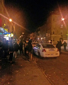 The crime scene in Bushwick. (Photo: Brando Skyhorse)