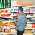 The faux supermarket (Photo: Patrick McMullan)