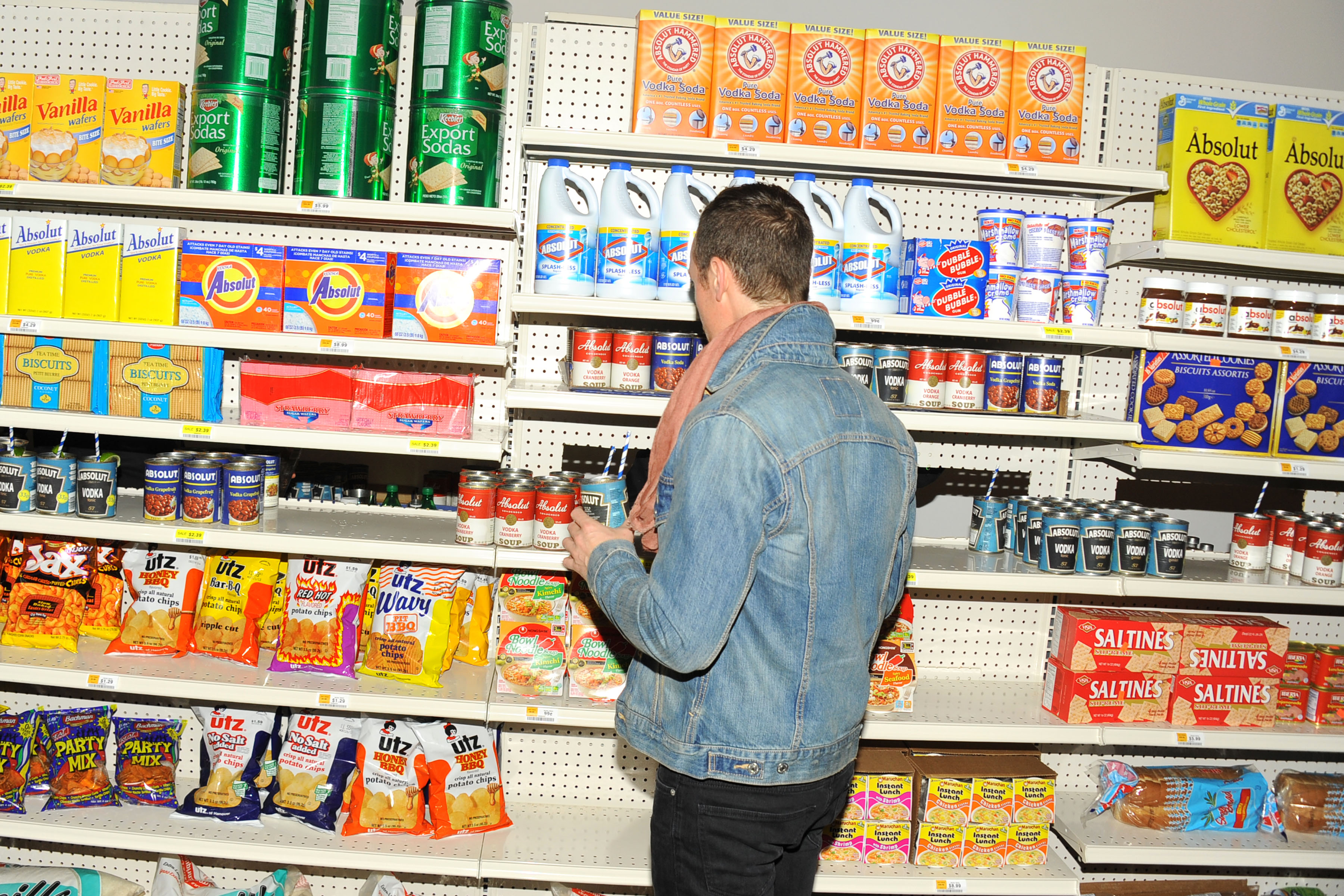 The faux supermarket (Photo: Patrick McMullan)