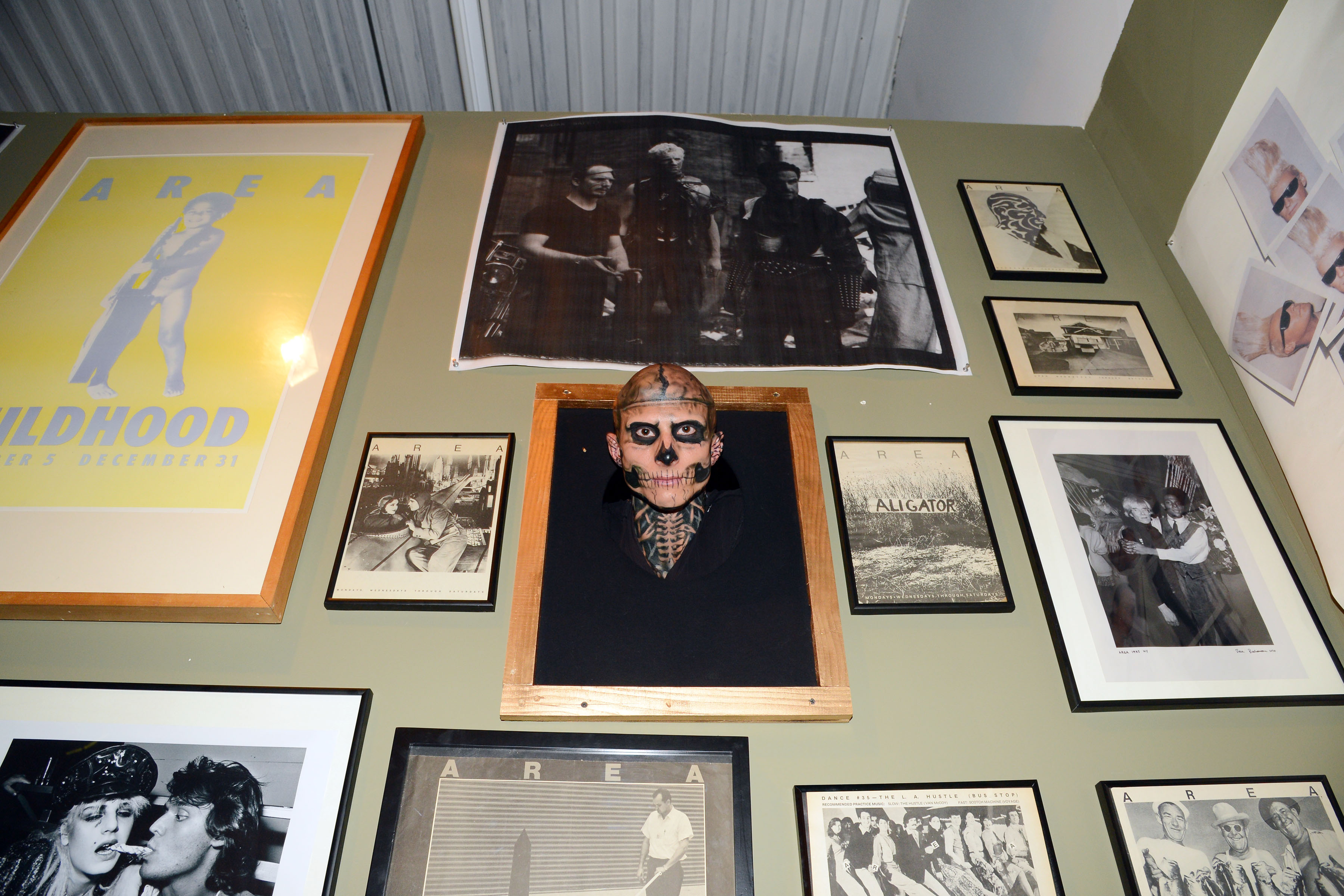 Rick Genest doing human taxidermy (Photo: Patrick McMullan)