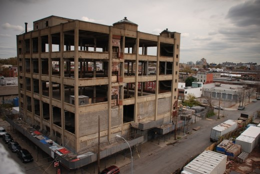 One of the abandoned warehouses of the terminal. (Photo: Nathan Kensinger)