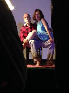 Lewis and Campbell in AfterOthello at Secret Project Robot, June 2015.