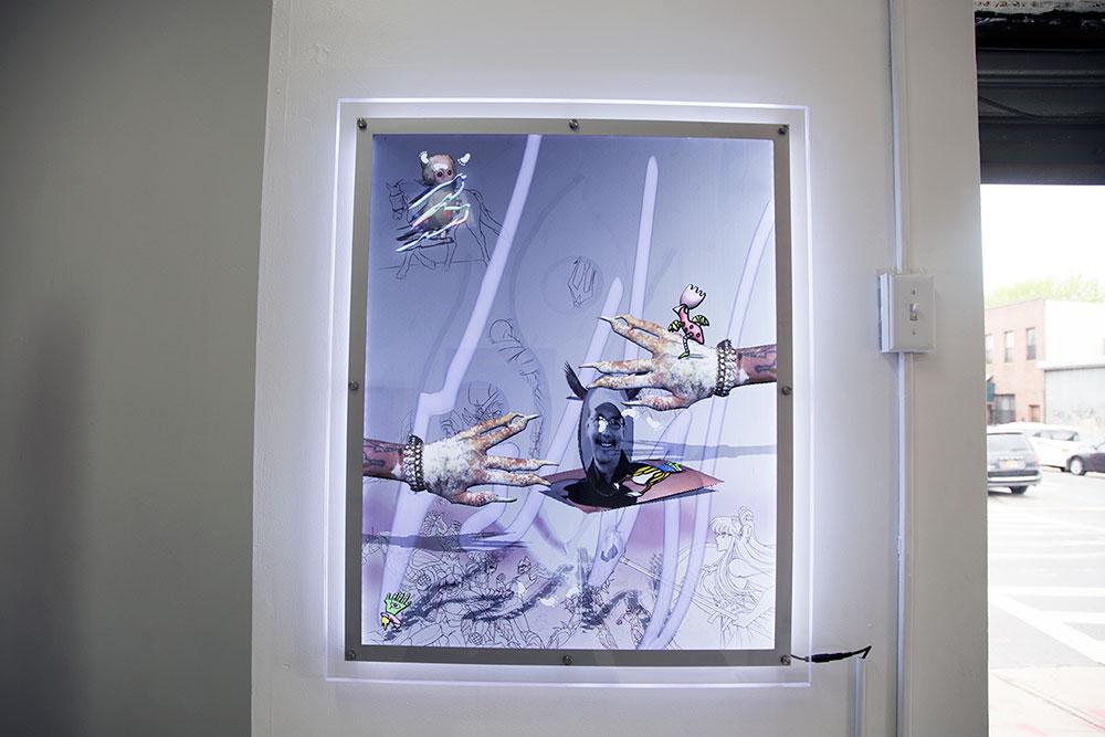 "Mark Pieterson ""Back"" 2016 C-print in LED edge-lit crystal lightbox (Photo: Nicole Disser)"