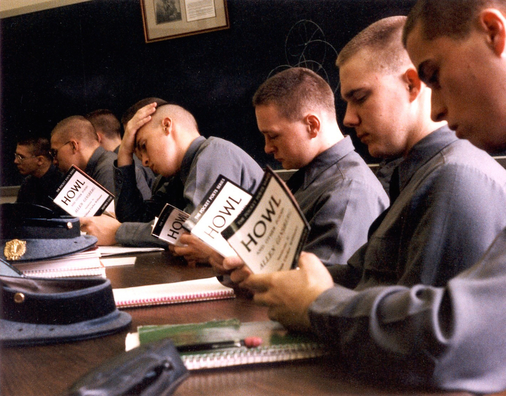 "Police cadets reading ""Howl"" (Photo: Gordon Ball, courtesy of Howl!)"