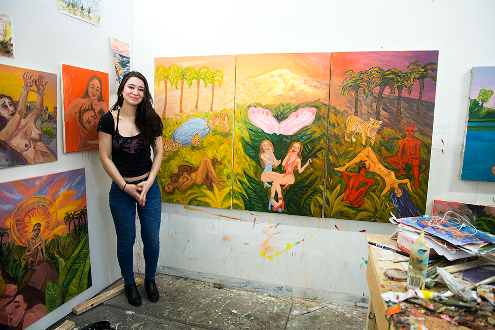 Masha Simonova at her shared studio (Photo: Nicole Disser)