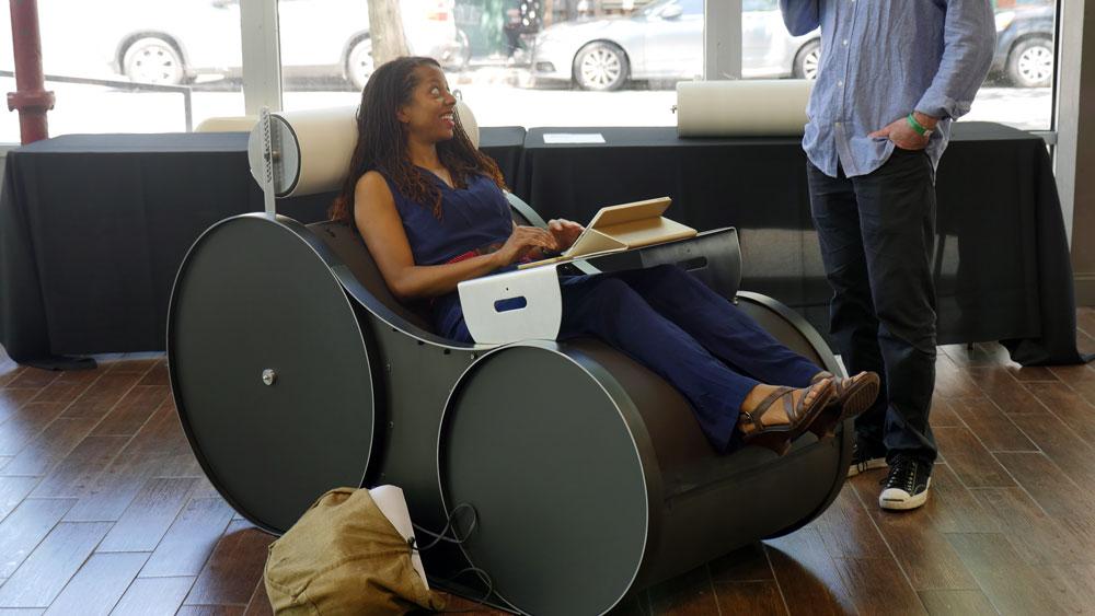 The Chotto chair by Thomas Stroman. (Photos: Karissa Gall)