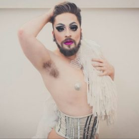 Stephen Plante (Vic Sin) in his Vienna Boylesque Festival costume. (Photo courtesy Stephen Plante)