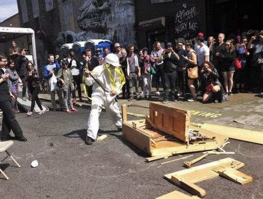 A past Grattan Street performance (image via Spread Art / Facebook)