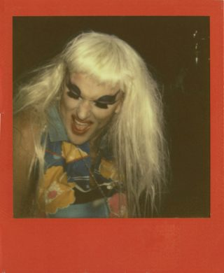 Fred Attenborough, Babes, 2010, Impossible Polaroid (taken at CLUMP at Trophy Bar) (image via BGSQD)