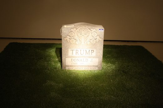 "Brian Andrew Whiteley's ""Legacy Stone (The Trump Tombstone)"" (photo: Cassidy Dawn Graves)"