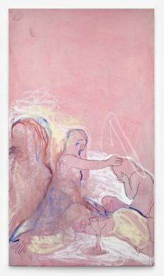 Stretcher Bar Painting 2, 2015 Pigment and oil on canvas 195.6 x 111.8 cm / 77 x 44 in © Rita Ackermann Courtesy Hauser & Wirth Photo: Genevieve Hanson