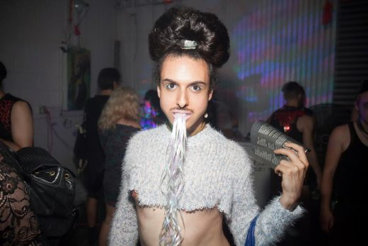 A partygoer at a Culture Whore event (photo: Santiago Felipe)