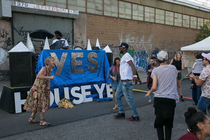 Jefferson Street art block party with House of Yes.